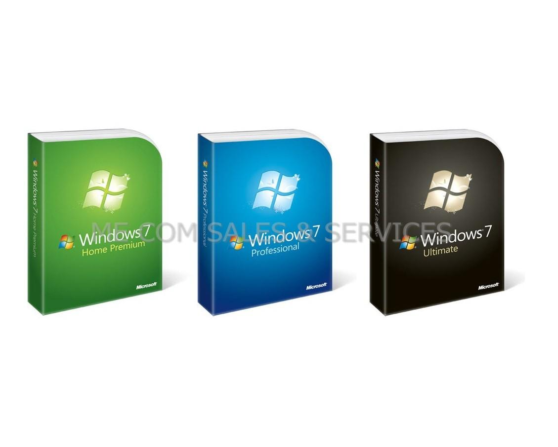 Genuine Microsoft Windows 7 Professional 32 & 64 Bit FPP FULL RETAIL P