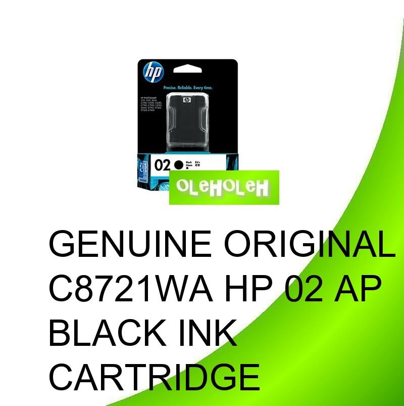 Genuine Original C8721WA HP 02 AP Black Ink Cartridge