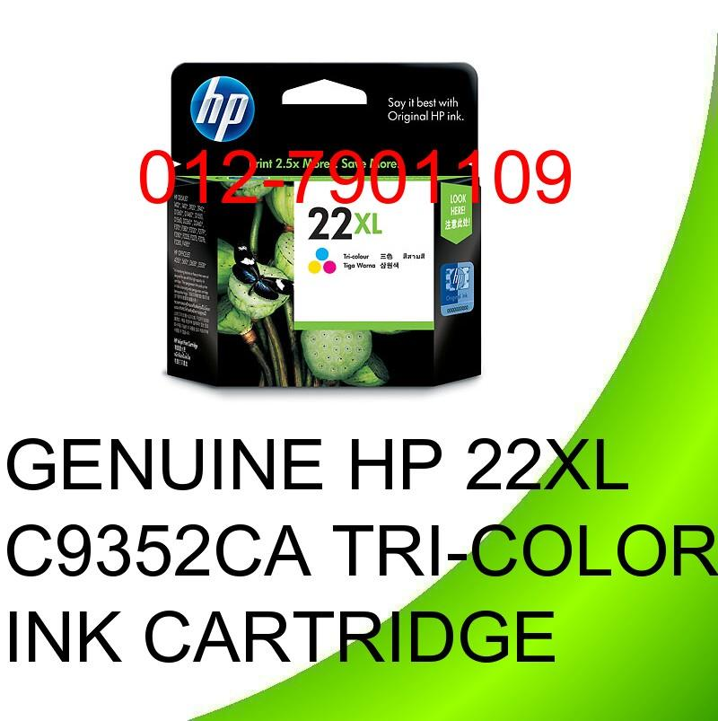 Genuine Original C9352CA HP 22XL Tri-Color Ink Cartridge