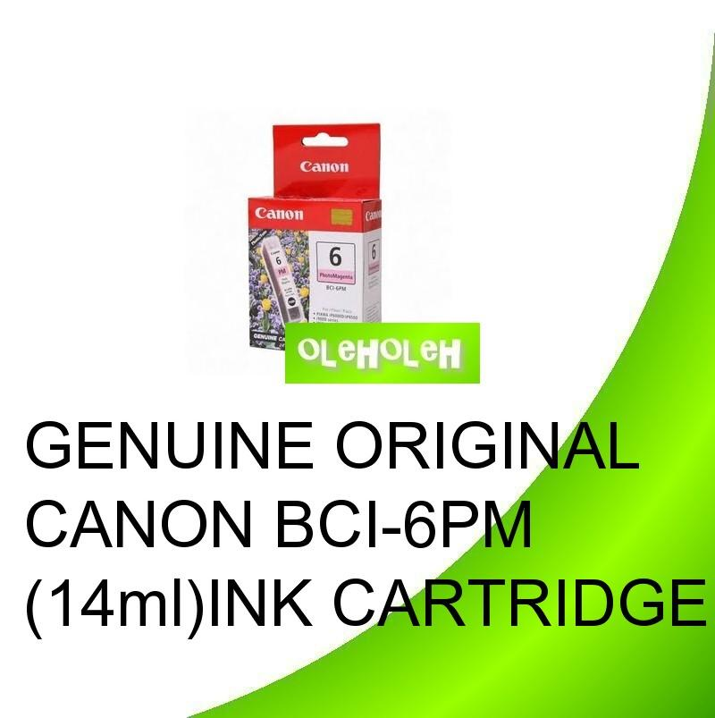 GENUINE ORIGINAL CANON BCI-6PM BCI-6R BCI-6G INK CARTRIDGE