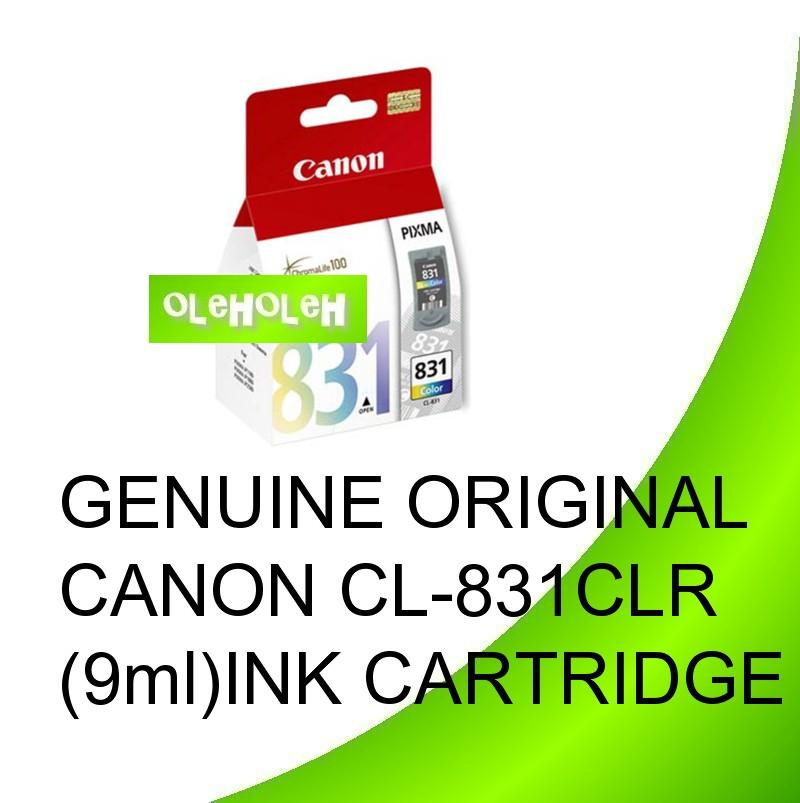 GENUINE ORIGINAL CANON CL-831CLR (9ml)INK CARTRIDGE