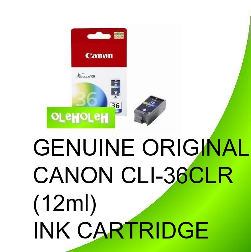 GENUINE ORIGINAL CANON CLI-36CLR (Color) INK CARTRIDGE