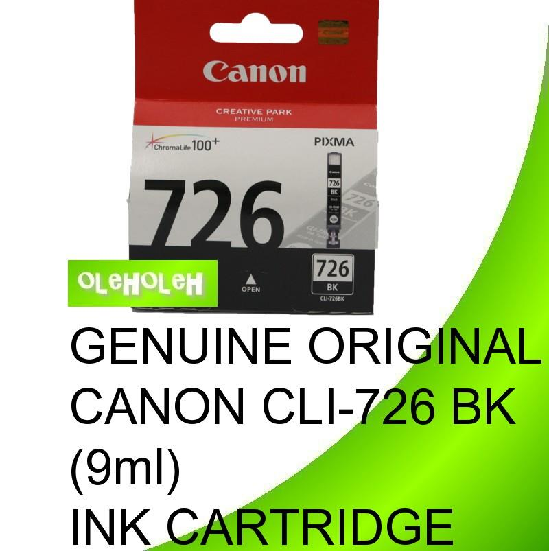 GENUINE ORIGINAL CANON CLI-726 BK C M Y GY(9ml) INK CARTRIDGE