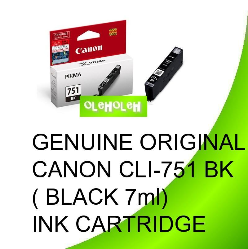 Genuine Original Canon CLI-751 BK C M Y GY ( Black 7ml) Ink Cartridge