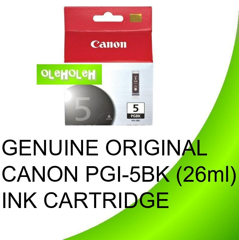 GENUINE ORIGINAL CANON PGI-5BK Black INK CARTRIDGE