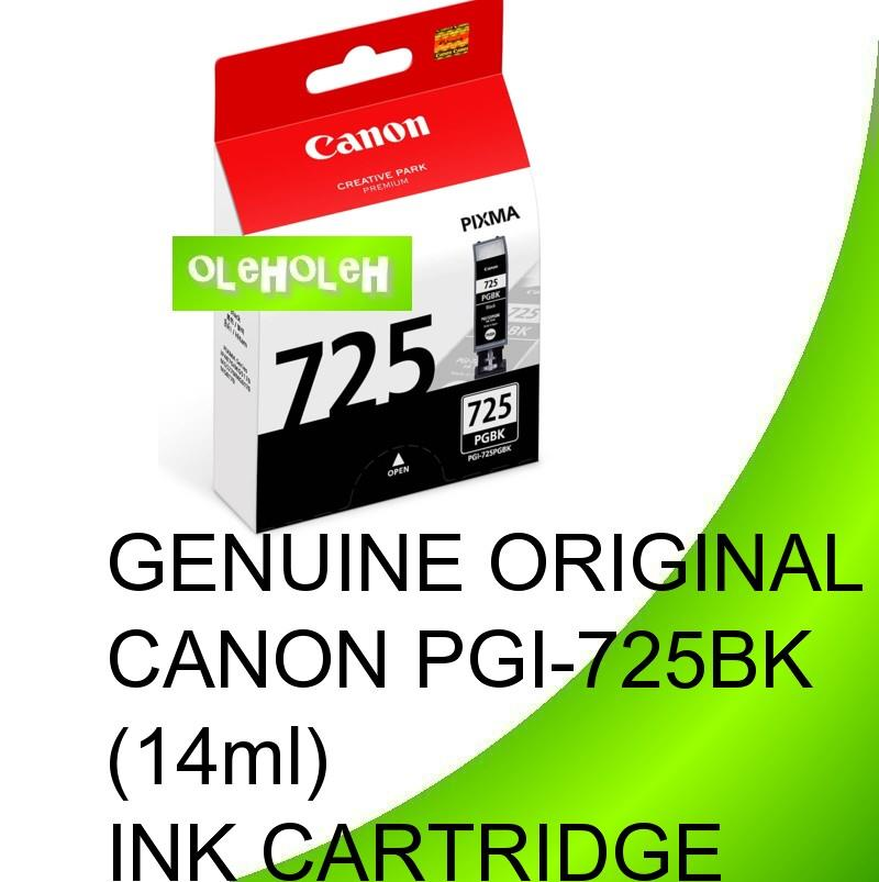 GENUINE ORIGINAL CANON PGI-725BK (14ml)INK CARTRIDGE