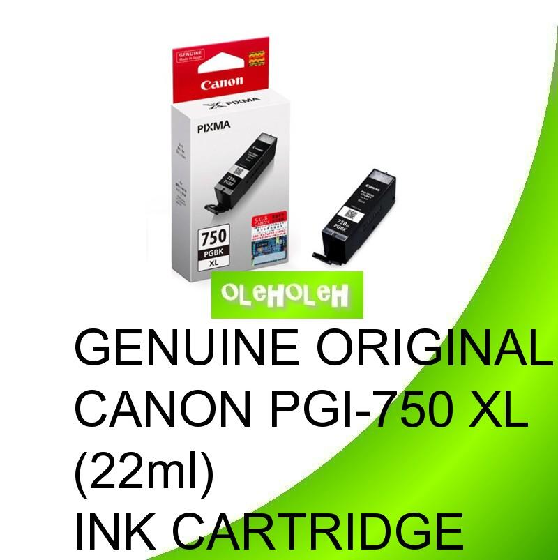 Genuine Original Canon PGI-750 XL (22ml) Ink Cartridge