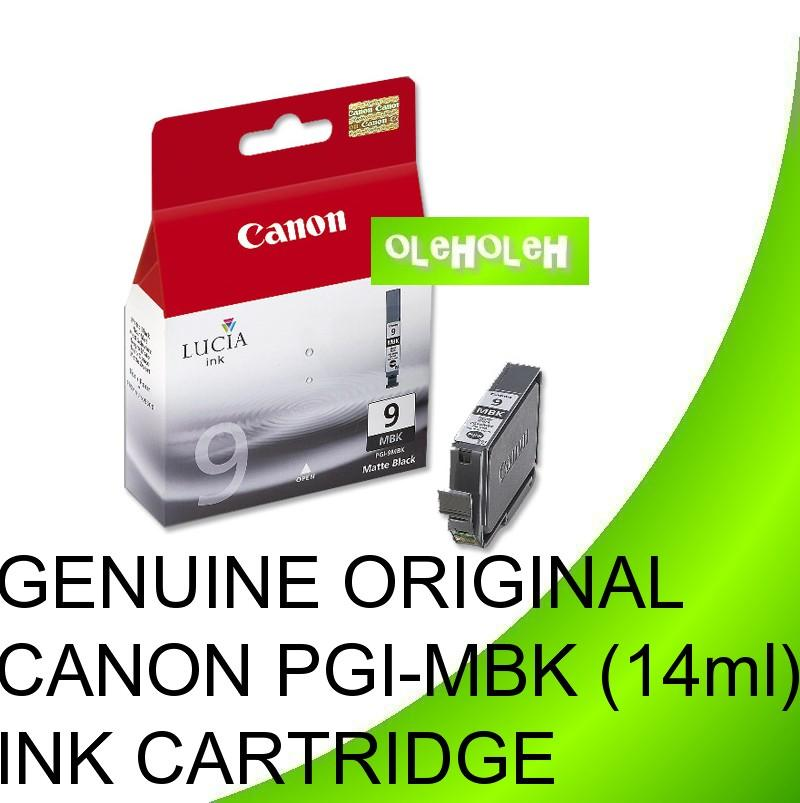 GENUINE ORIGINAL CANON PGI-9MBK 9PC 9PM 9PBK 9R (14ml) INK CARTRIDGE