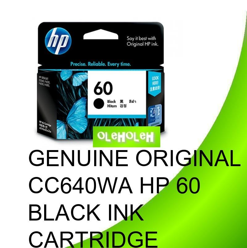 Genuine Original CC640WA HP 60 Black Ink Cartridge