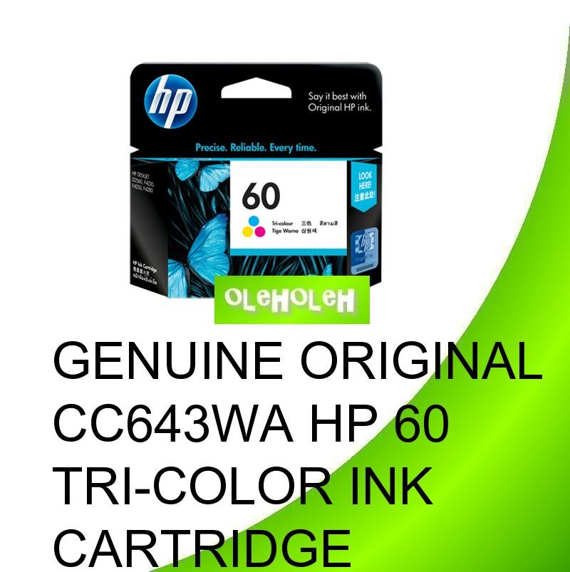 Genuine Original CC643WA HP 60 Tri-Color Ink Cartridge