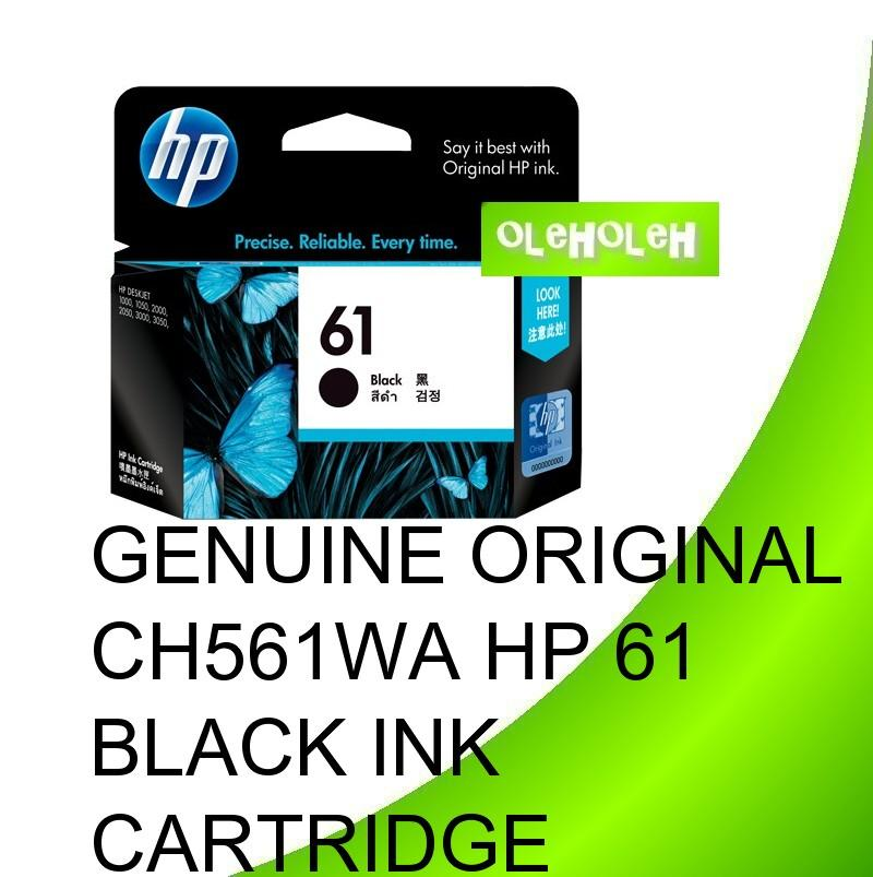 Genuine Original CH561WA HP 61 Black Ink Cartridge