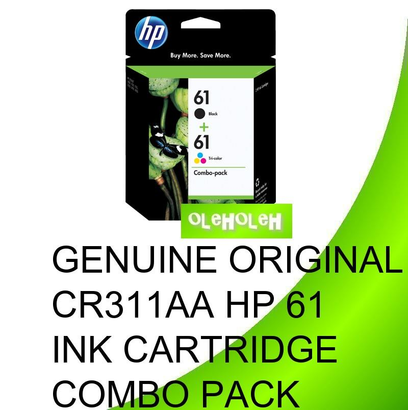 Genuine Original CR311AA HP 61 Ink Cartridge Combo Pack
