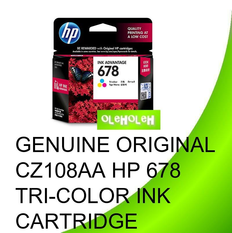 Genuine Original CZ108AA HP 678 Tri-Color Ink Cartridge
