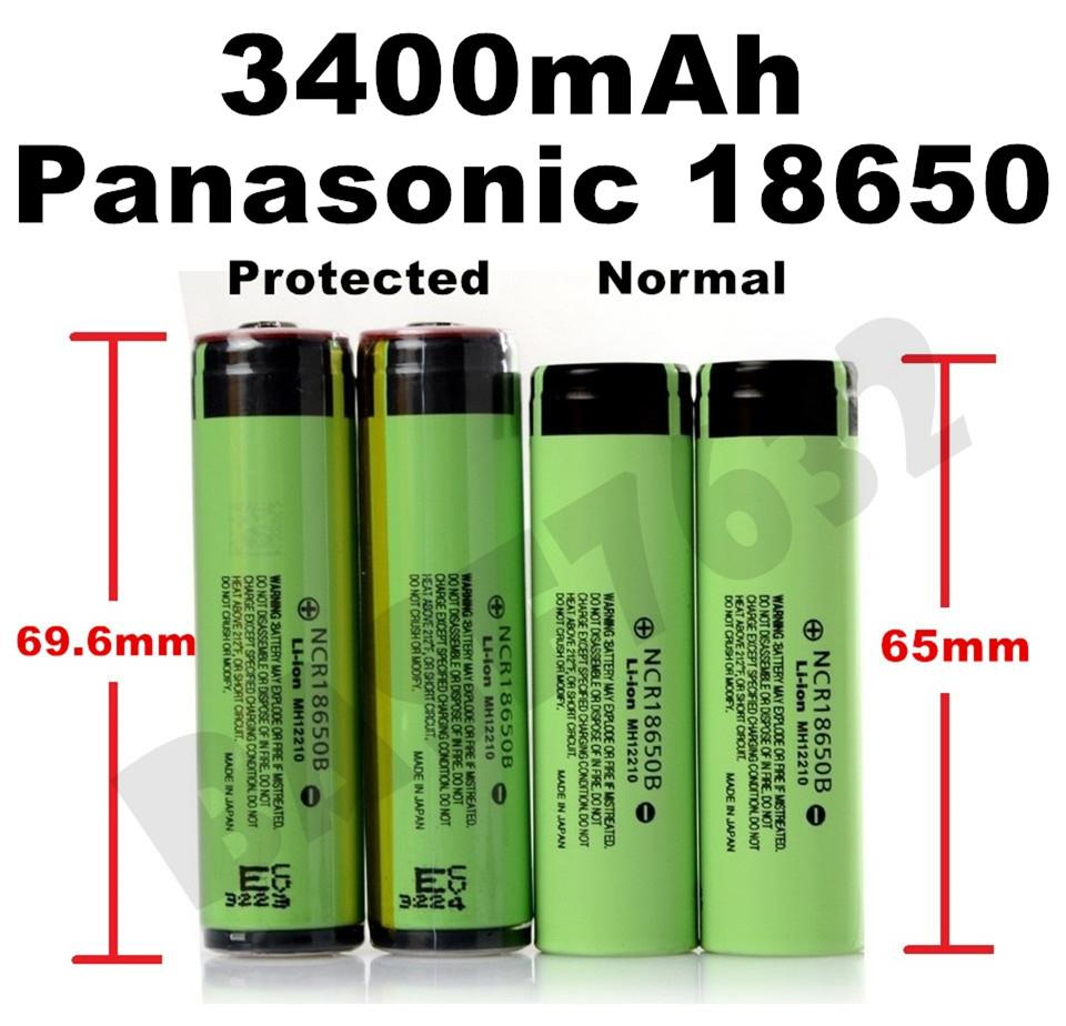 GENUINE Panasonic  18650 NCR18650B Rechargeable Li-Ion 3400mAh Battery