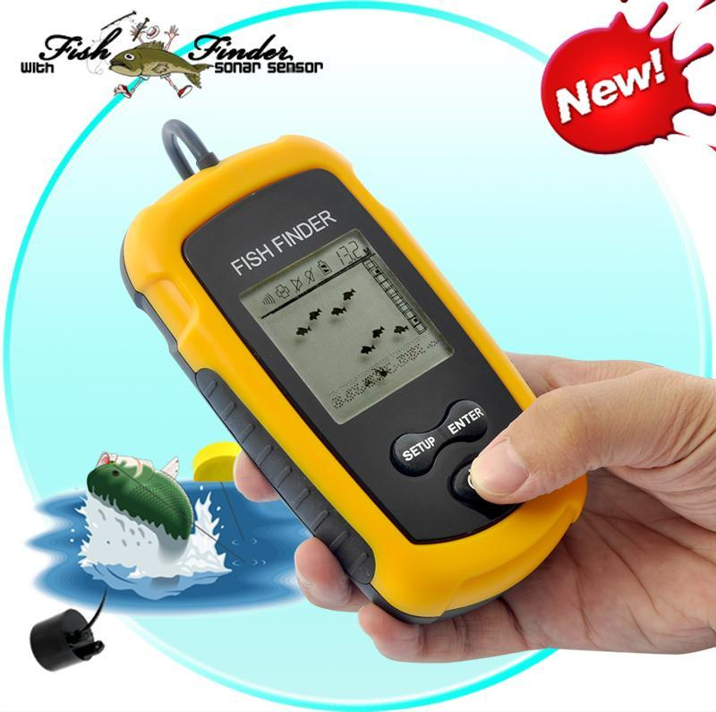 GENUINE PORTABLE FISH FINDER SONAR DEPTH SOUNDER WITH ALARM QC APPROVE