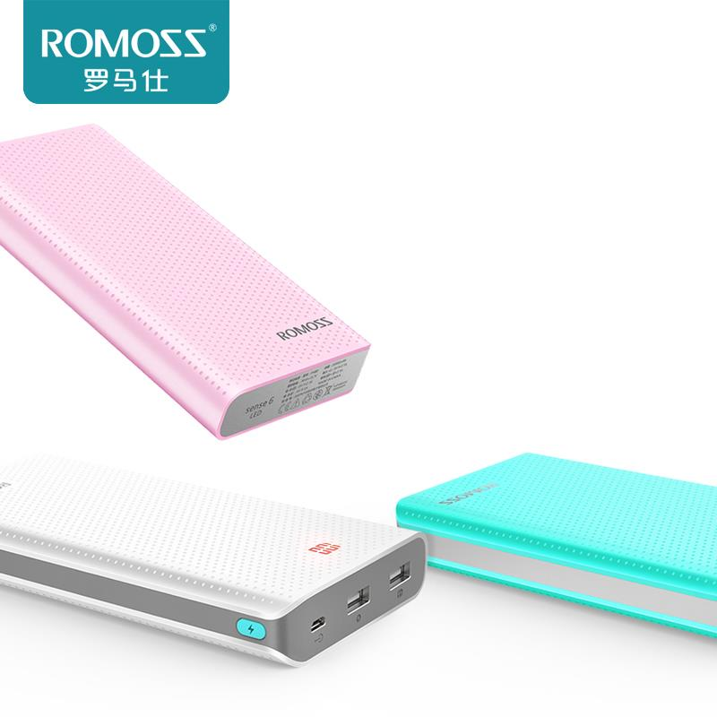 GENUINE ROMOSS SENSE6 LED 20000MAH POLYMER OUTPUT 1A2.1A POWERBANK