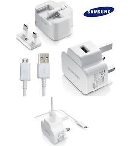 GENUINE SAMSUNG MAINS USB WALL CHARGER + DATA CABLE