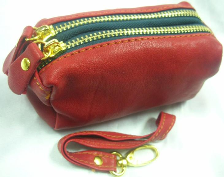 Genuine Soft Leather Pouch (Red)~ New
