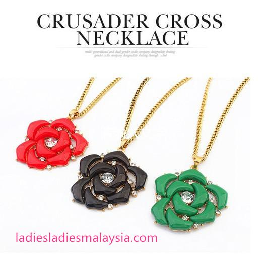 Geometric Flower Necklace