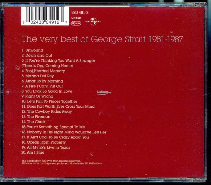George Strait The Very Best Of - New CD