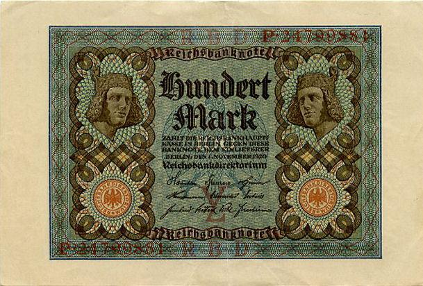 Germany 100 marks 1920 vf-xf