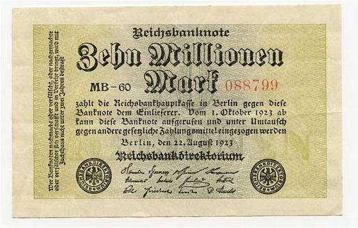 Germany 10000000 marks 1923 xf