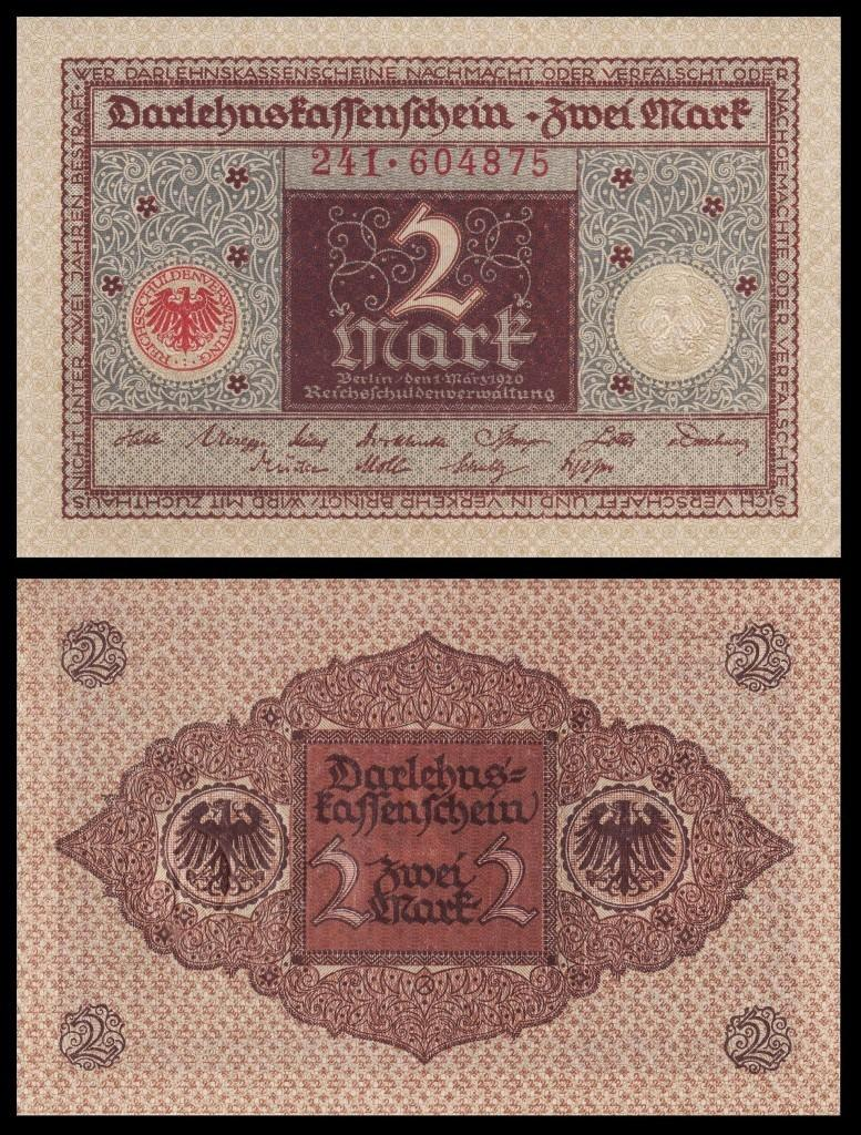 Germany 2 Mark 1920 xf p 60