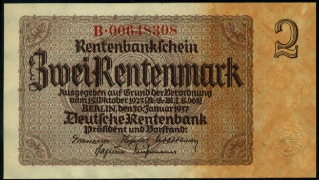 Germany 2 marks 1937 vf-xf