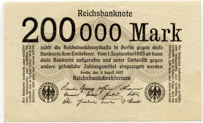 Germany 200000 marks 1923 xf