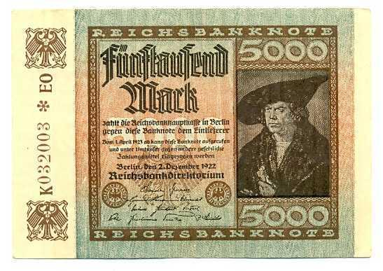 Germany 5000 marks 1922 vf-xf