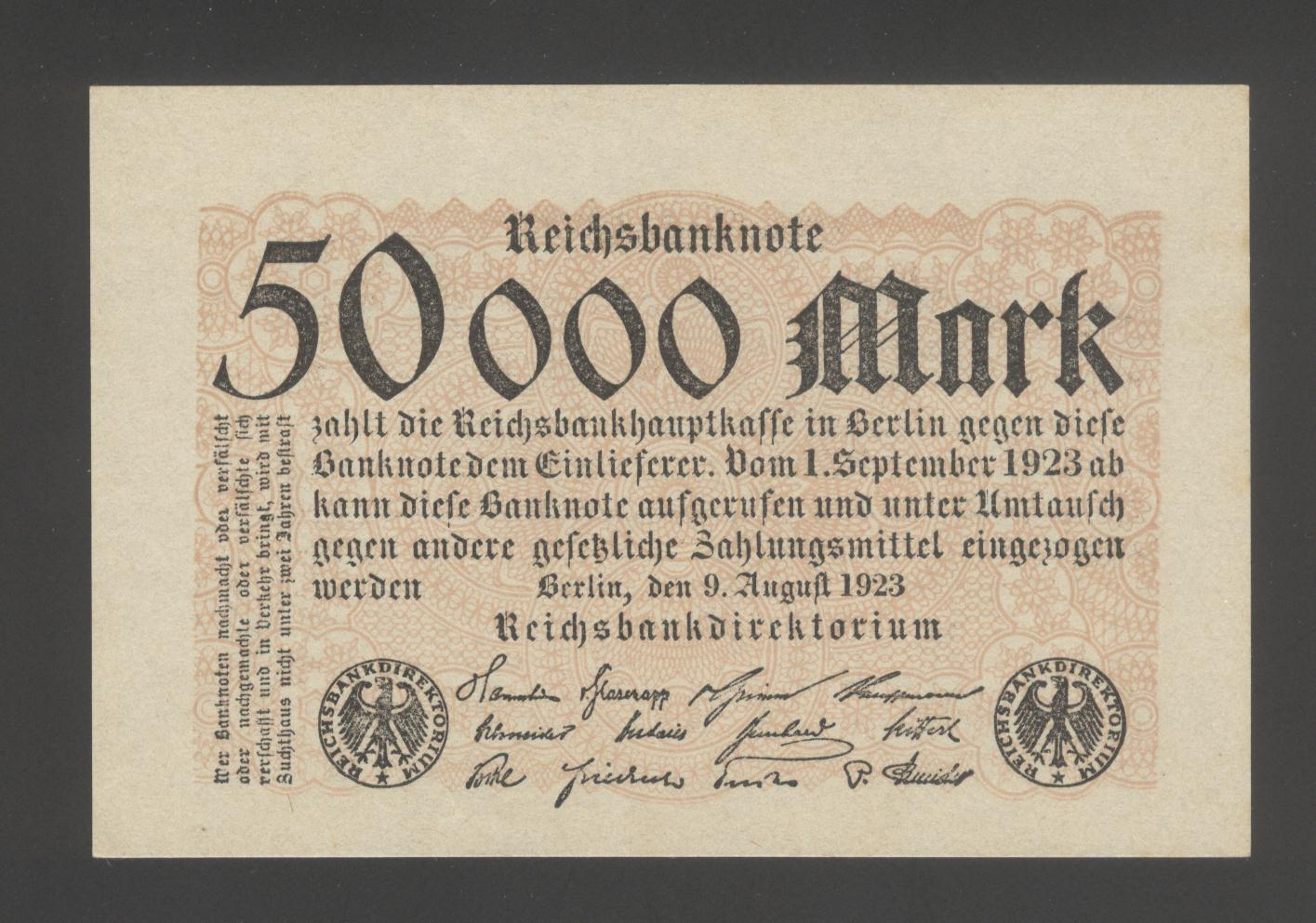 Germany 50000 Marks 1923 vf