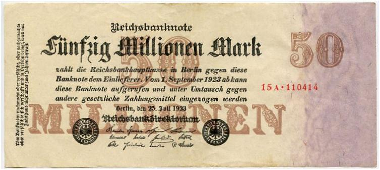 Germany 50000000 marks 1923 xf big