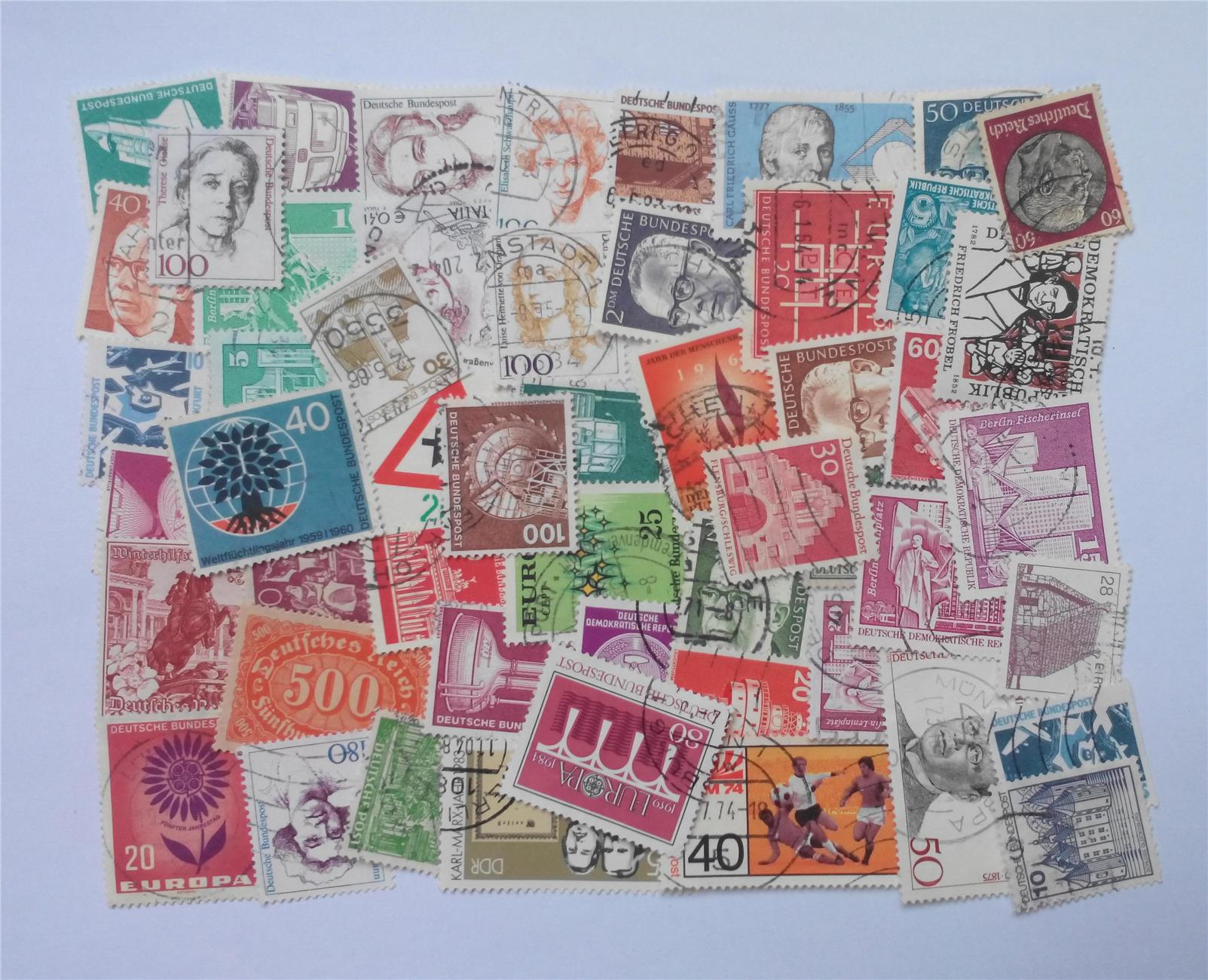 Germany stamps mix 50 pcs