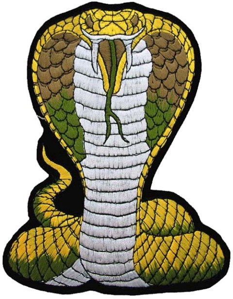 GIANT COBRA BIKER EMBROIDERED PATCH  K   2Giant Cobra