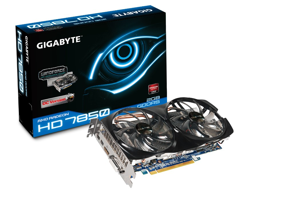 Gigabyte ATI HD7850 OC 2GB DDR5 256bit PCI-E Graphic Card