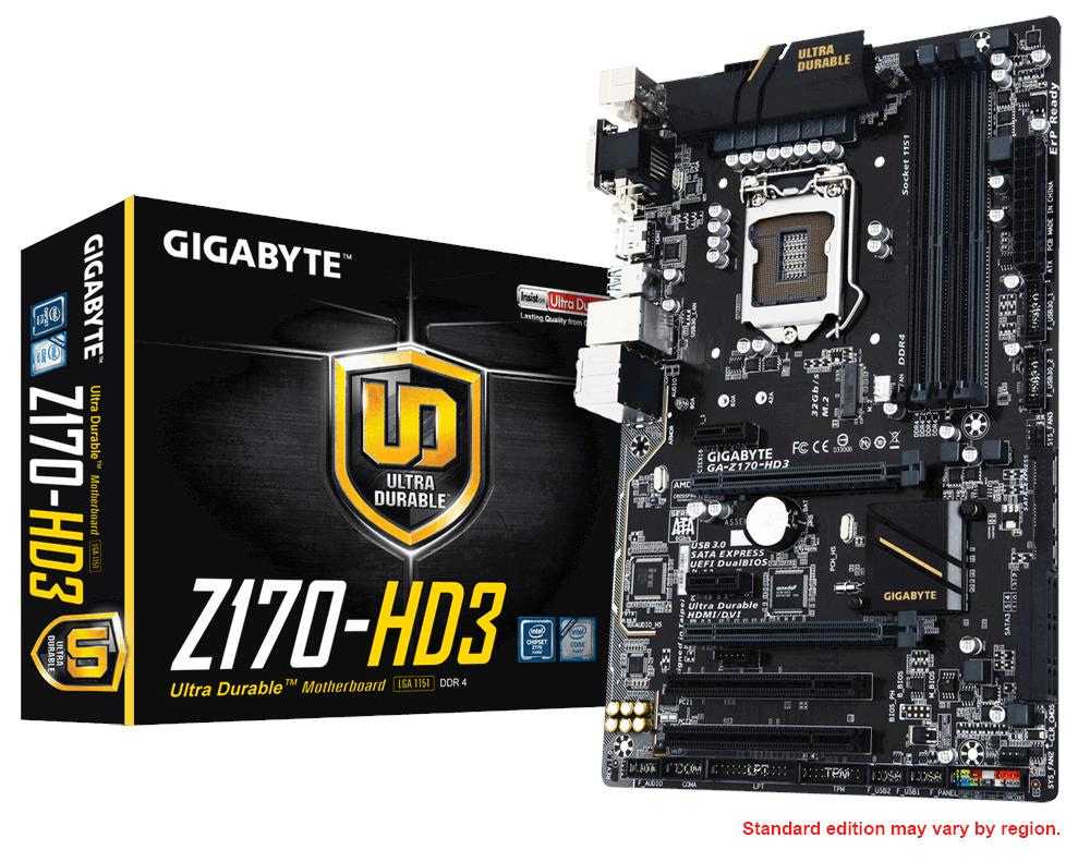 GIGABYTE GA-Z170-HD3 SOCKET 1151 MAINBOARD