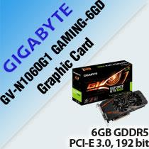 GIGABYTE GV-N1060G1 GAMING-6GD GRAPHIC CARD
