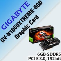 GIGABYTE GV-N1060XTREME-6GD GRAPHIC CARD