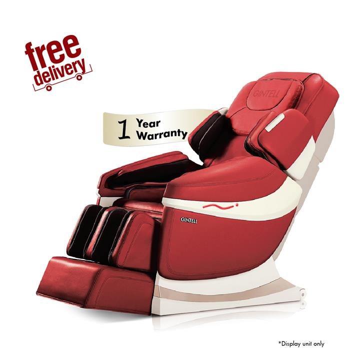 GINTELL DeAero Touch Massage Chair- Rose Red