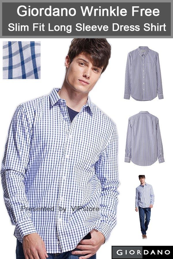 Giordano wrinkle free slim fit long end 5 2 2018 12 18 am for How do wrinkle free shirts work