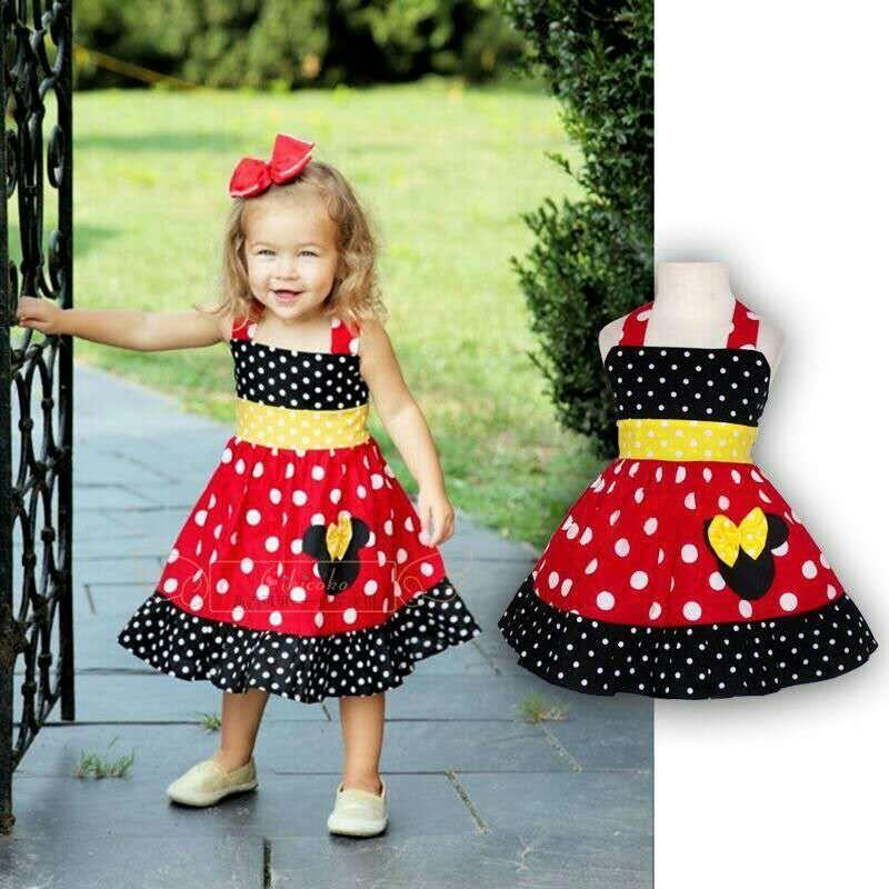 LITTLE GIRL STYLISH MINNIE DRESS/POKALDOT