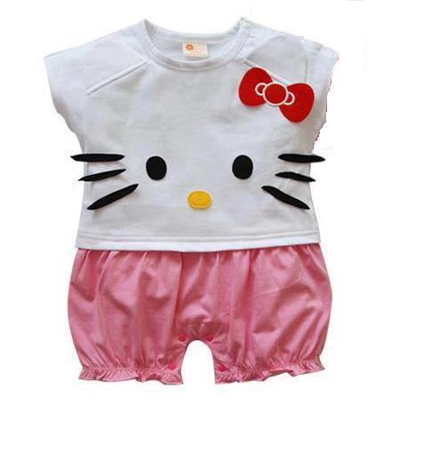 Girls Short Sleeve Romper (Hello Kitty)