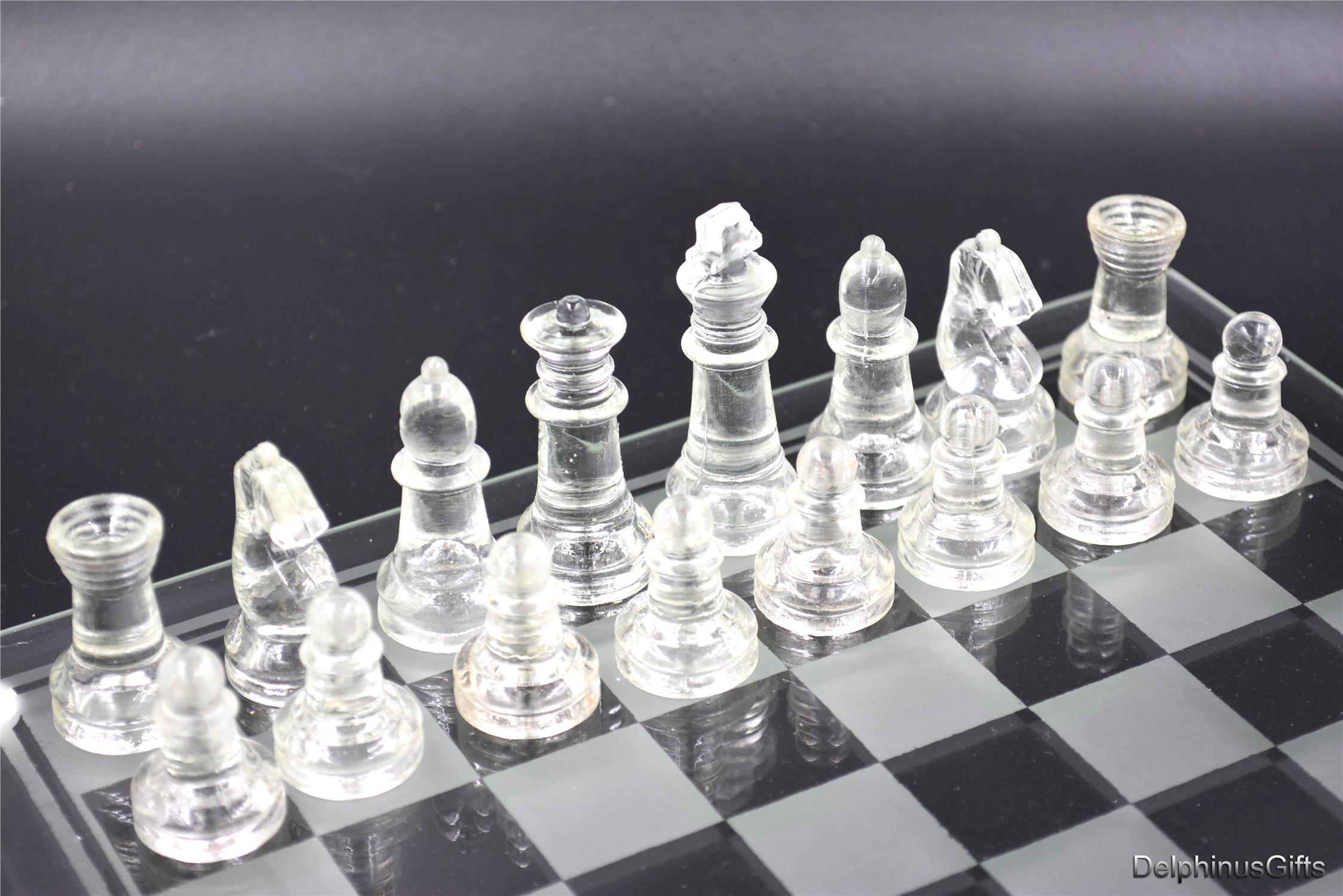 Glass Chess Set 25cm X 25cm Clear A End 9 6 2017 3 03 Pm