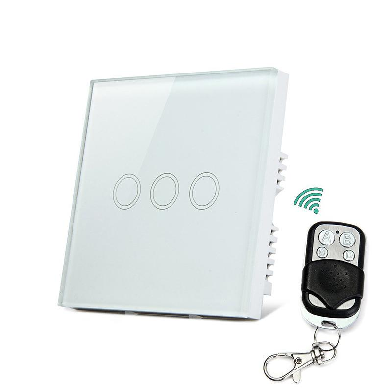 Smartphone Light Switch glass touch screen/remote/smartphone control wireless light switch