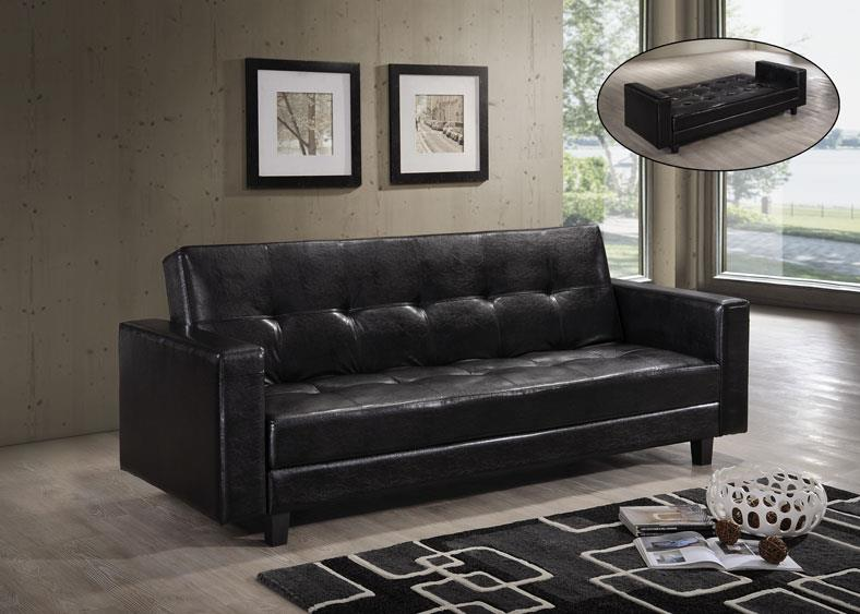 GLORY SOFABED GLU SB-08 HD  (BLACK)
