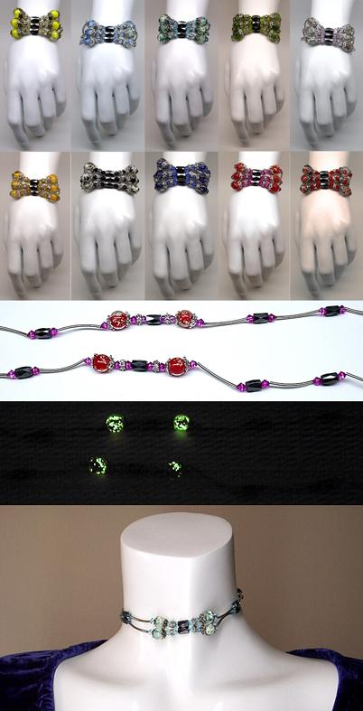 <B>Glow In The Dark Magnetic Bracelet / Necklace</B>