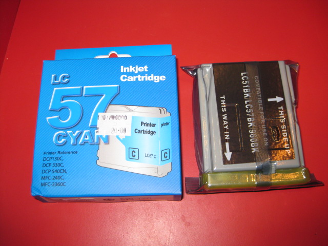 GOA COMPATIBLE CARTRIDGE FOR BROTHER LC-57 CYAN