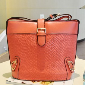 [goFashion] Elegance Embossed Lady Handbag - Red