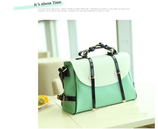 [goFashion] Sweetie Elegance Lady Handbag - Green