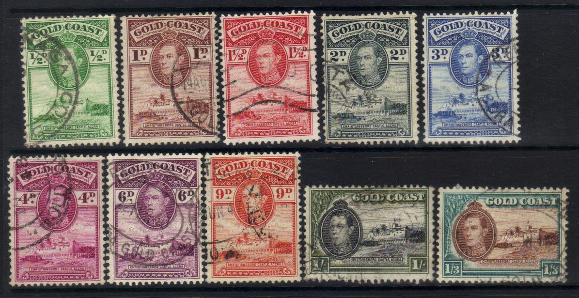 GOLD COAST KGVI 1938-1943 DEFINITIVES USED BJ254